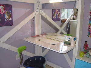 desk under the lofted